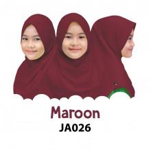 Jilbab Anak Afrakids - Maroon