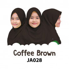 Jilbab Anak Afrakids - Coffee Brown
