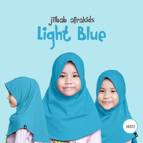 Jilbab Anak Afrakids - Light Blue