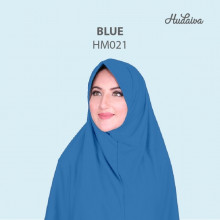 Jilbab Hudaiva Morocco Blue