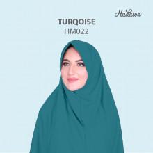 Jilbab Hudaiva Morocco Turqoise
