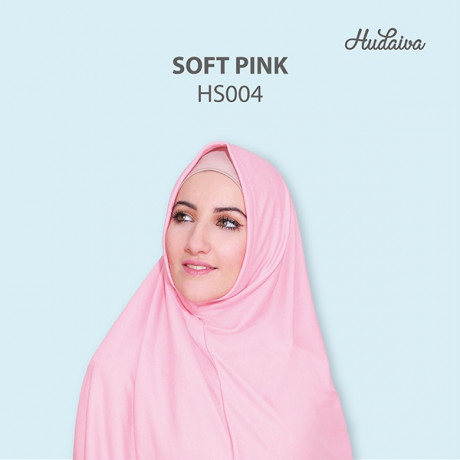 Jilbab Hudaiva Syiria Soft Pink