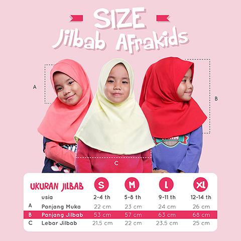 Size Chart Jilbab Anak Afrakids