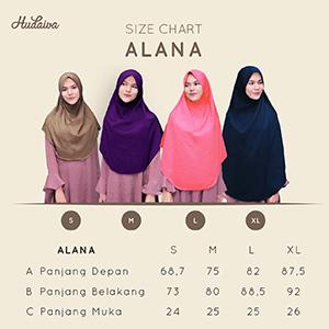 Size Chart Hudaiva Alana