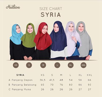 Size Chart Hudaiva Syiria